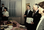1994 Ignác Romsics and Ambassador Paul Tarr (with box) at the opening reception