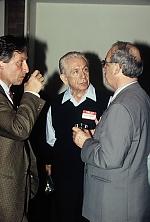 Ivan Sanders and Gyula Nyikos at the reception