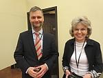 Embassy hosts David Singer and Krisztina Osvat.