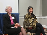 Hungarian History panel members Ilona Kovács and Andrea Bern at Q&E.
