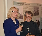 Beata Szpura and Sally Gáti at the concert reception