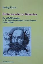 – Kulturtransfer in Kakanien. Zur Jókai-Rezeption in der deutschsprachigen Presse Ungarns (1867- 1882). Berlin: Weidler, 2011. 251 p. (Mit Textedition) (ISBN:978-3-89693-288-4)